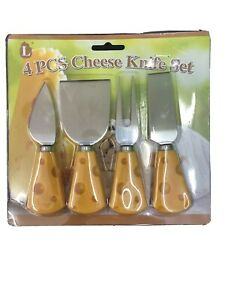 4x Handle Cheese Knife Collection Cheese Knife Set Cheese Cutter UK SELLER