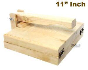 """Tortilla Press 11"""" Pine Wood Tortilladora de Madera Big Tortilla Press Heavy..."""