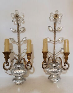 OLD  BAGUES STYLE PAIR OF WALLSCONCES