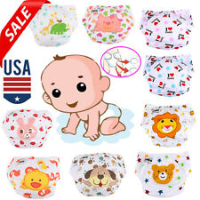Baby Diapers Adjustable Reusable Cloth Pocket Nappies Printed puppy kitten bear