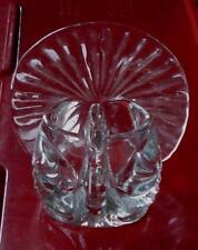 Pretty Pressed Glass Collectible Avon Thanksgiving Tea Light Holder, Vg Cnd