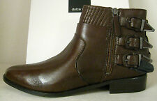 DOLCE VITA - RALPHY CHOCOLATE BUCKLE LEATHER ANKLE BOOT SZ 8, RETAIL $199