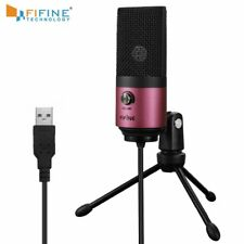 USB MIC Fifine Desktop Condenser Microphone for YouTube Videos Live Broadcast