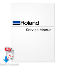 ROLAND VersaCamm VP-300, VP-540 Service Manual