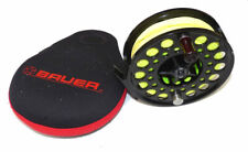 Bauer Mackenzie M7 USA large arbour fly reel black finish Rio Windcutter line...