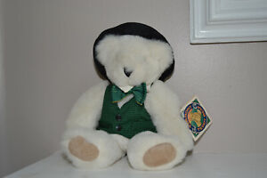 """THE VERMONT CO. THE TEDDY BEAR MAN Hat and festive tie & vest 1993 WITH TAGS 12"""""""
