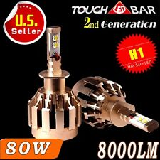 2X 8000LM 80W H1 LED headlight Bulbs Kit Hgh Power Low Beam Lights 6000K White