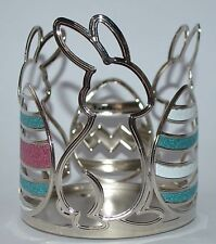 NEW BATH & BODY WORKS EASTER BUNNY EGGS METAL LARGE 3 WICK CANDLE HOLDER 14.5 OZ