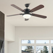 """5 Blade 52"""" Ceiling Fan with Remote Control Led Light Reversible Motor & Blades"""