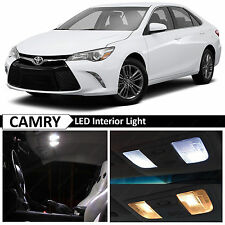 14x White LED Light Interior Package for 2015-2017 Toyota Camry w/Sunroof