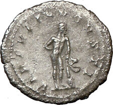 GORDIAN III Ancient Silver Roman Coin NUDE 'Farnese' Bisexual HERCULES  i20197
