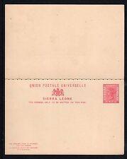 Postal Stationery H&G #3a Sierra Leone postal card & Reply 1881/1883-Unused