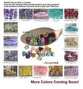 BABY Bell Flower Czech Glass Beads 25 Ur Pick
