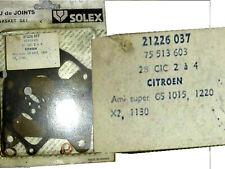Citroen GS / X2. Ami Super. Solex 28CIC carb gaskets