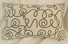 Maharam NAMES Black Modern Mid Century Large Bolster Pillow  w INSERT