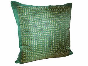 Ralph Lauren Home British Green Gentlemans Signature Silk Down Throw Pillow