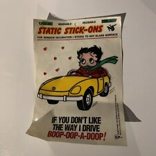 New ListingBetty Boop Static Stick On Decals Vtg 1992