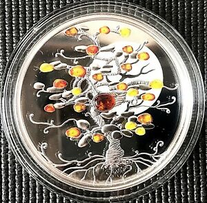 """Niue 2016 """"Tree of Luck"""" 1 oz Silver Coin with Frame."""