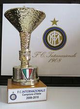 """INTER FC MINIATURA """"COPPA SCUDETTO 2009/2010"""" RESINA GALVANICA ORO/ARGENTO"""