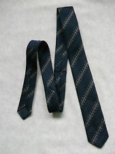 Boys Tie Vintage Necktie AGE 4-10 DARK NAVY STRIPED