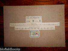Vintage Military? Folding Map c1880 of Volkermarkt (Austria) Zone 19, Col Xi