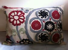 Fuchsia Folklore Appliqued Cushion Cover - 30cm x 50cm