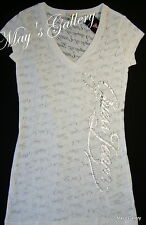 GUESS Jeans  Rhinestones   Tank T-shirt Tee T shirt  Top Blouse white NWT  XL