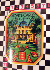 1960's Monte Carlo pegatina de cristal Citroen 2cv Dyane Hy van Ds Ami 8 Renault 4cv 4