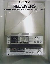 Sony Stereo Receivers VX6, VX5, VX4, VX33, VX22, VX1 Original Brochure