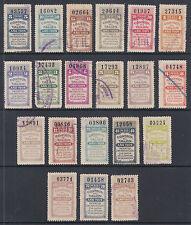 Argentina, Santa Fé, Forbin 290A/315A used 1909 General Tax Fiscals, 20 Talon