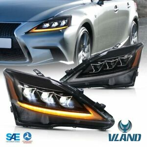 VLAND Full LED Headlights For 2006-13 LEXUS IS250 IS350 2008-15 ISF W/Sequential