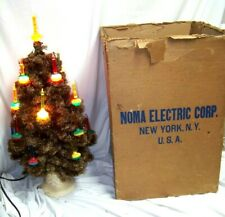 """Vintage 18 Light Noma Christmas Bubble Tree #504 28"""" with stand & box"""