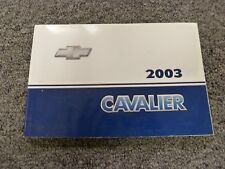 2003 Chevy Cavalier Coupe Sedan Owner Owner's Manual User Guide LS Sport 2.2L