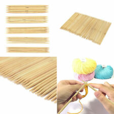 New 55Pcs Double Pointed Bamboo Knitting Needles Sweater Glove Knit Tool Set