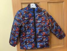 New Disney Store Spiderman Lightweight Puffy Puffer Jacket 3 4 5/6 7/8 9/10