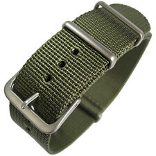 18mm Hadley-Roma MS4210 Olive Green Nylon G10 Military Dive Watch Band Strap
