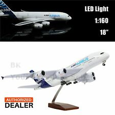"Airbus A380 Aeroplane Model Prototype Plane LED Light Decoration 46cm 18"" 1:160"
