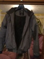 H&M Divided Grey Mens Bomber Jacket with hood. Small. Used. VG condition.