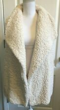 SOFT SURROUNDINGS Womens Sherpa Sweater VEST Ivory Size M/Medium