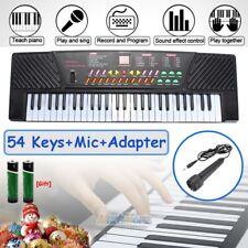 54 Key Electronic Keyboard Electric Music Digital Piano Organ with Mic & Stand
