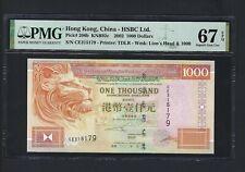 Hong Kong 1000 Dollars 1-7-2002 P206b Uncirculated Grade 67