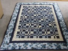 """Beautiful Handmade Small Size Patchwork Quilt - 67.5"""" x 55"""""""
