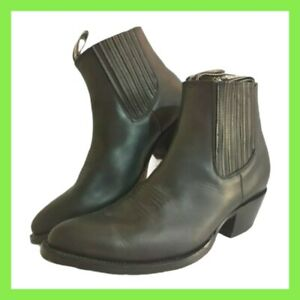 Grinders Cowboy Leather Men Ladies Boots Black Maverick Biker Western UK Size 10