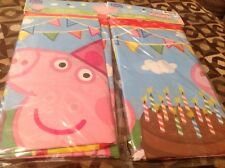 NEW PEPPA PIG PLASTIC TABLECOVER FOR YOUR PARTY!
