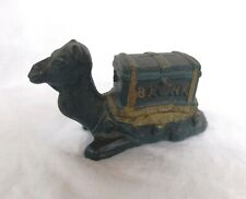 Antique Kyser Rex Kneeling Camel Still Cast Iron Bank 1889 w/ Gold Trim Paint