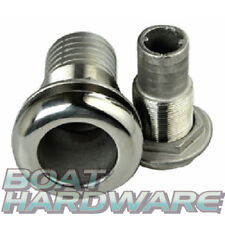 """Boat Skin Fittings 316 SS 3/4"""" hose connection through hull outlet Ball Valve"""