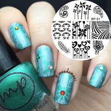 Mignon Moulins à vent Nail Art Stamping Template Image Plaque BORN PRETTY BP51