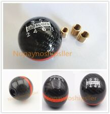 JDM Racing Mugen Shift Knob Black Carbon Fiber 6 Speed S2000 Civic WRX STI EVO