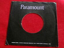 "PARAMOUNT ~ VINTAGE ORIGINAL ~ RECORD COMPANY SLEEVE ~ 7"" SINGLE 45 RPM"