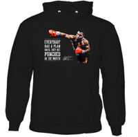 Mike Tyson Hoodie, Mens Boxing Everyone Has a Plan Iron Boxer Gym Unisex Top